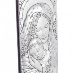 Maica Domnului si Pruncul, Foita de Argint 925, 14X6cm, Cod Produs:820