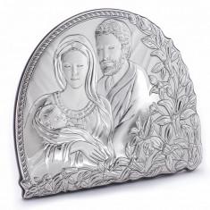 Icoana Argint Sfanta Familie, 6 X 6 cm, Cod Produs:832