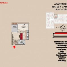 Vand garsoniera tip studio - pret 34762euro - Apartament de vanzare, 44 mp, Numar camere: 2, An constructie: 2017, Mansarda