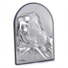 Icoana de Argint Maica Domnului si Pruncul, 9.5x13.5cm, Cod Produs:329