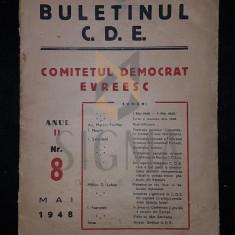 COMITETUL DEMOCRAT EVREESC, BULETINUL C.D.E., Anul II, Numarul 8, Mai 1948