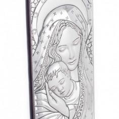 Maica Domnului si Pruncul, Foita de Argint 925, 29X11cm, Cod Produs:1220