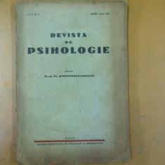 Revista de psihologie 1942 Sibiu Transilvania oficii orientare Rosca