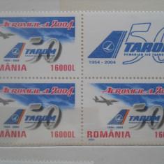 2004 LP 1646 TAROM 50 DE ANI DE EXISTENTA CU VIGNETA - Timbre Romania, Nestampilat