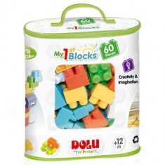 Primele Cuburi de Construit 60 Piese - Set de constructie