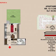 Apartament 2 camere zona Tractorul - Apartament de vanzare, 36 mp, Numar camere: 2, An constructie: 2017, Parter