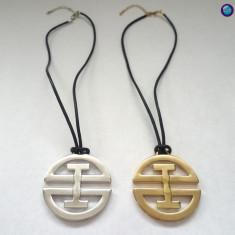 Colier placat cu aur alb 18k -lantisor, pandantiv - Pandantiv placate cu aur