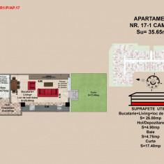 Garsoniera, Brasov, Mall Coresi, 35.65 mp, 2017 - Garsoniera de vanzare, 37 mp, Parter