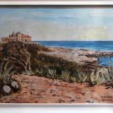 Tablou Balcic, semnat TOMAZIU, 1941 ulei pe panza - Pictor roman, Peisaje, Realism