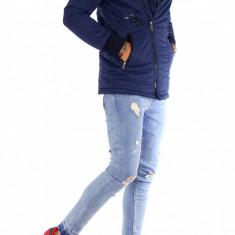 Geaca iarna bleumarin - geaca barbati - geaca slim fit COLECTIE NOUA 9198, Marime: S, M, L, XL, Culoare: Din imagine