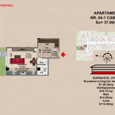 Garsoniera Brasov, confort 1, zona Tractorul - Garsoniera de vanzare, 37 mp, An constructie: 2017, Parter