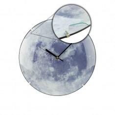 Ceas fosforescent, perete, Quartz, 1.5V, Moon Light, resigilat, diametru 34 cm