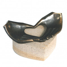 Statueta bronz Din inima