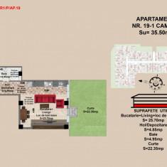Garsoniera, Brasov, Mall Coresi, 35.5 mp, 2017 - Garsoniera de vanzare, 36 mp, Parter