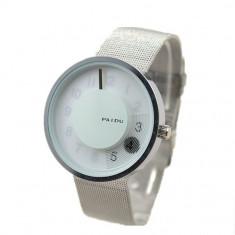 Ceas Unisex PAIDU G 101,Cadran 4CM Alb-argint, Otel