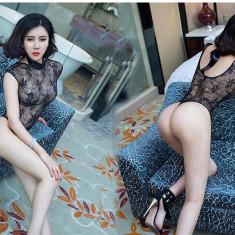 Lenjerie Lady Lust 117 Sexy Costum Babydoll Teddy Monokini Dantela Body - Set lenjerie sexy, Marime: M, Culoare: Negru