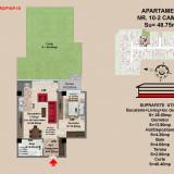 Apartament 2 camere decomandat Brasov, zona Tractor . - Apartament de vanzare, 49 mp, Numar camere: 2, An constructie: 2017, Parter