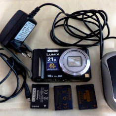 Panasonic Lumix DMC-TZ20 (pentru piese) cu 3 acumulatori - Aparate foto compacte