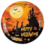Farfurii 18 cm Happy Halloween, Radar 52993, set 10 bucati