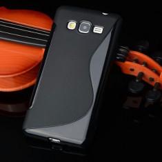 Husa Samsung Galaxy Grand Prime G530H TPU S-LINE Neagra - Husa Telefon Samsung, Negru, Gel TPU, Fara snur, Carcasa