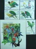 CUBA - PAPAGALI, 2005, 5 V + 1 S/S, NEOBLIT. - CU 29, Fauna
