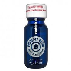 Poppers POTENT BLUE - cu Power Pellet metalic - sticla mare - original - Stimulente sexuale