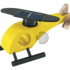 Elicopter solar lemn galben
