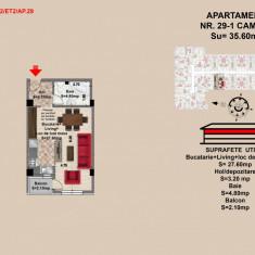 Garsoniera, Brasov, Mall Coresi, 2017, 35.6 mp - Garsoniera de vanzare, 36 mp, Etajul 2