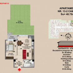 Ap. 2 camere, Brasov, Mall Coresi, 2017, 48.75 mp - Apartament de vanzare, 49 mp, Numar camere: 2, Parter