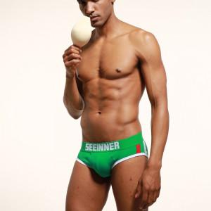 Chiloti barbati cu push-up (pernuta) frontal SEINNER - div culori si marimi