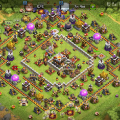 Cont clash of clans lv 195 - DVD fotbal