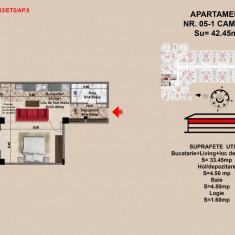 Studio, Brasov, 2017, Mall Coresi, 36 mp - Garsoniera de vanzare, 43 mp, Etajul 2