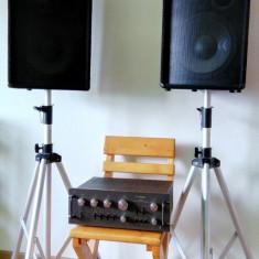 Sistem sonorizare 2 boxe 800W, amplificator Technics 700W - Amplificator audio