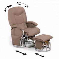 Fotoliu Balansoar - Metal Glider Recline - Crem - Masuta/scaun copii