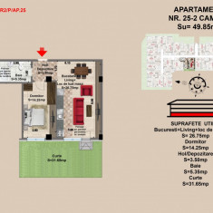 Ap. 2 camere, Brasov, Mall Coresi, 2017, 49.7 mp - Apartament de vanzare, 50 mp, Numar camere: 2, Parter
