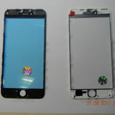 Geam iPhone 6s Plus Negru Alb sticla cu Rama + oca Original - Geam carcasa