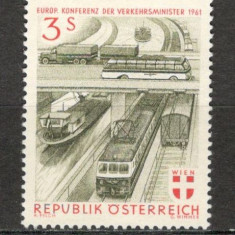 Austria. 1961 Conferinta europeana a Ministerelor de Transport KZ.349 - Timbre straine, Nestampilat