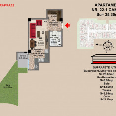 Ap 2 Brasov, Mall Coresi, 35.34 mp, 2017 - Apartament de vanzare, 36 mp, Numar camere: 2, Parter