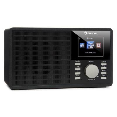"""AUNA IR-160, radio prin internet, WLAN, USB, AUX, UPNP, display TFT de 2,8 """", telecomandă, negru foto"""