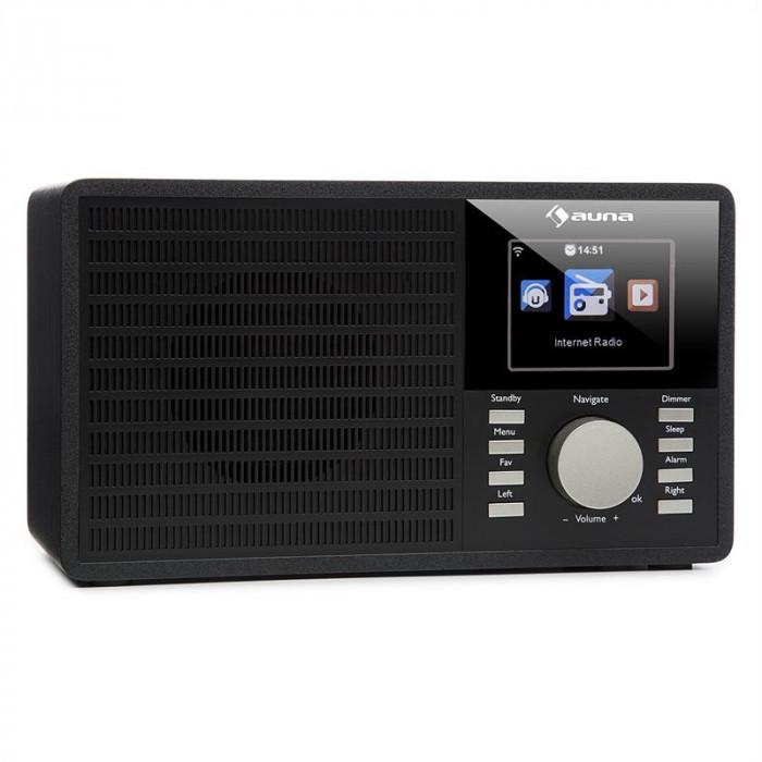 """AUNA IR-160, radio prin internet, WLAN, USB, AUX, UPNP, display TFT de 2,8 """", telecomandă, negru foto mare"""