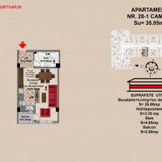 Garsoniera, Brasov, 2017, Mall Coresi, 34.3 mp - Garsoniera de vanzare, 35 mp, Etajul 1