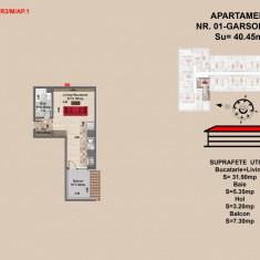 Garsoniera, Brasov, Mall Coresi, 37.5 mp, 2017 - Garsoniera de vanzare, 38 mp, Mansarda