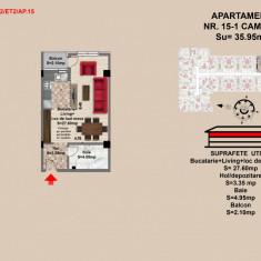 Garsoniera, Brasov, Mall Coresi, 2017, 35, 95 - Garsoniera de vanzare, 36 mp, Etajul 2