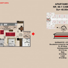 Garsoniera studio, str Nicolae Labis nr 52- pret 37500, 48 mp - Garsoniera de vanzare, An constructie: 2017, Etajul 1