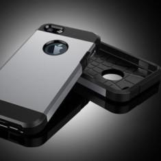Husa iPhone 5 5S SE TPU Hybrid Silver - Husa Telefon Apple, Argintiu, Gel TPU, Fara snur, Carcasa