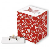 Red Scalloped Hearts Light Bag, Radar 5437, 1 piecedar 5437, 1 bucata