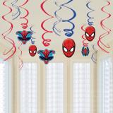Serpentine decorative Spiderman pentru petrecere, Amscan 671355-55, Set 12 buc