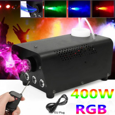 Masina de fum cu lumini disco si telecomanda