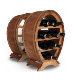 Suport mic din lemn pentru sticle vin - Suport sticla vin