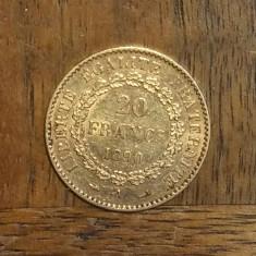 FRANTA MONEDA AUR 20 FRANCS GENIE 1890 A, Europa